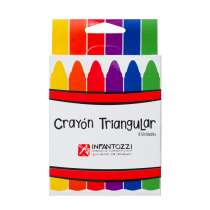 Crayon Triangular x 6 Infantozzi