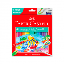 Lapices de Colores Acuarelables x 48 Faber