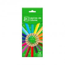 Lapices de Colores Largos x 12 DL