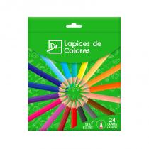 Lapices de Colores Largos x 24 DL