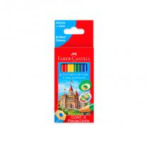 Lapices de Colores Cortos x 6 Faber