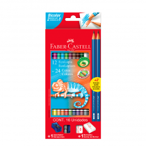 Lapices Bicolores x 12 con Kit Faber