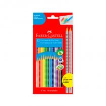 Lapices de Colores Largos x 12 con Grip Faber