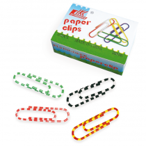 Clips Redondos Rayados 28mm